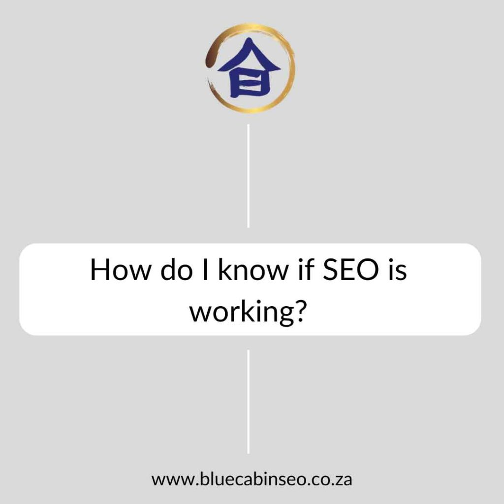 How do I know if SEO is working?