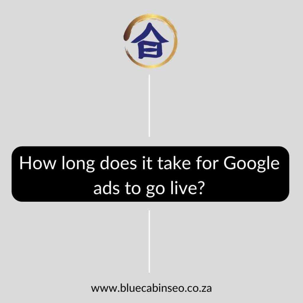 How long does it take for Google ads to go live - The Blue Cabin SEO Company