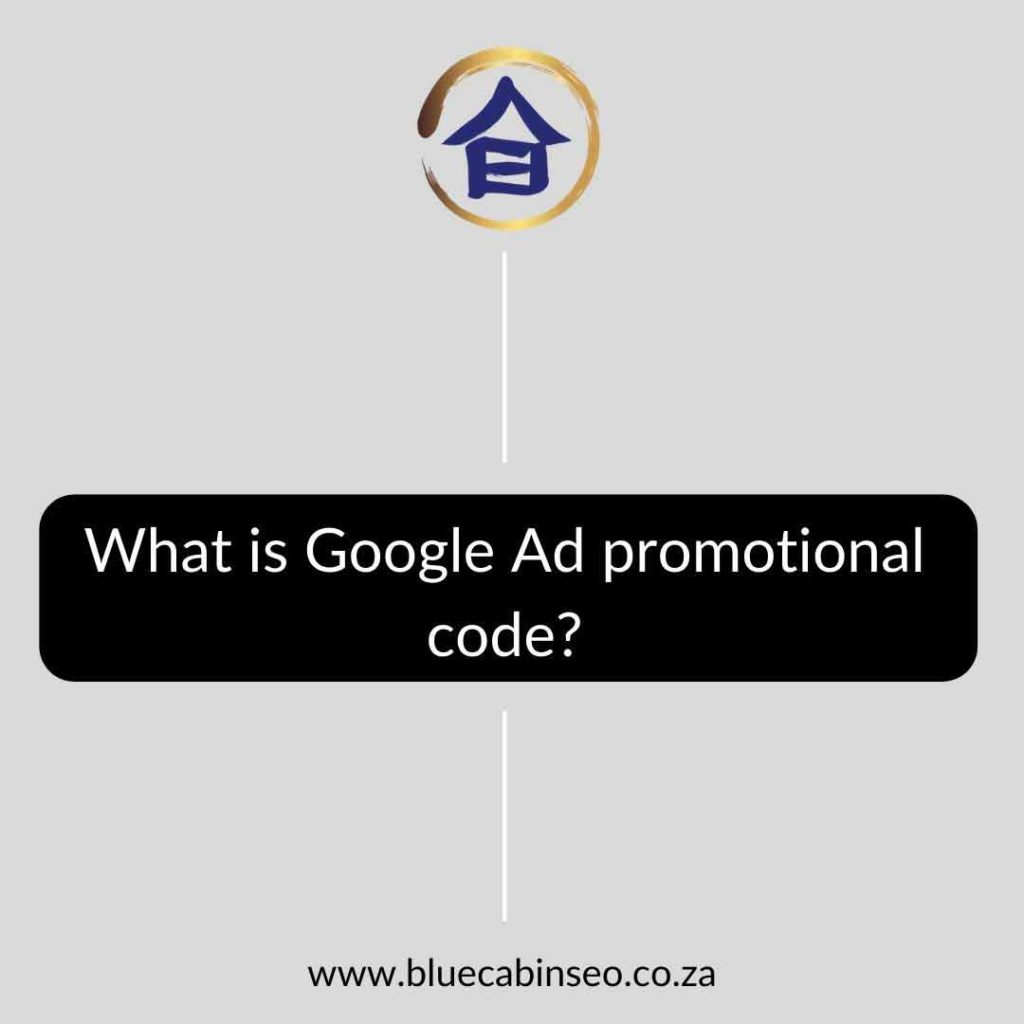 What is Google Ad promotional code - The Blue Cabin SEO Company