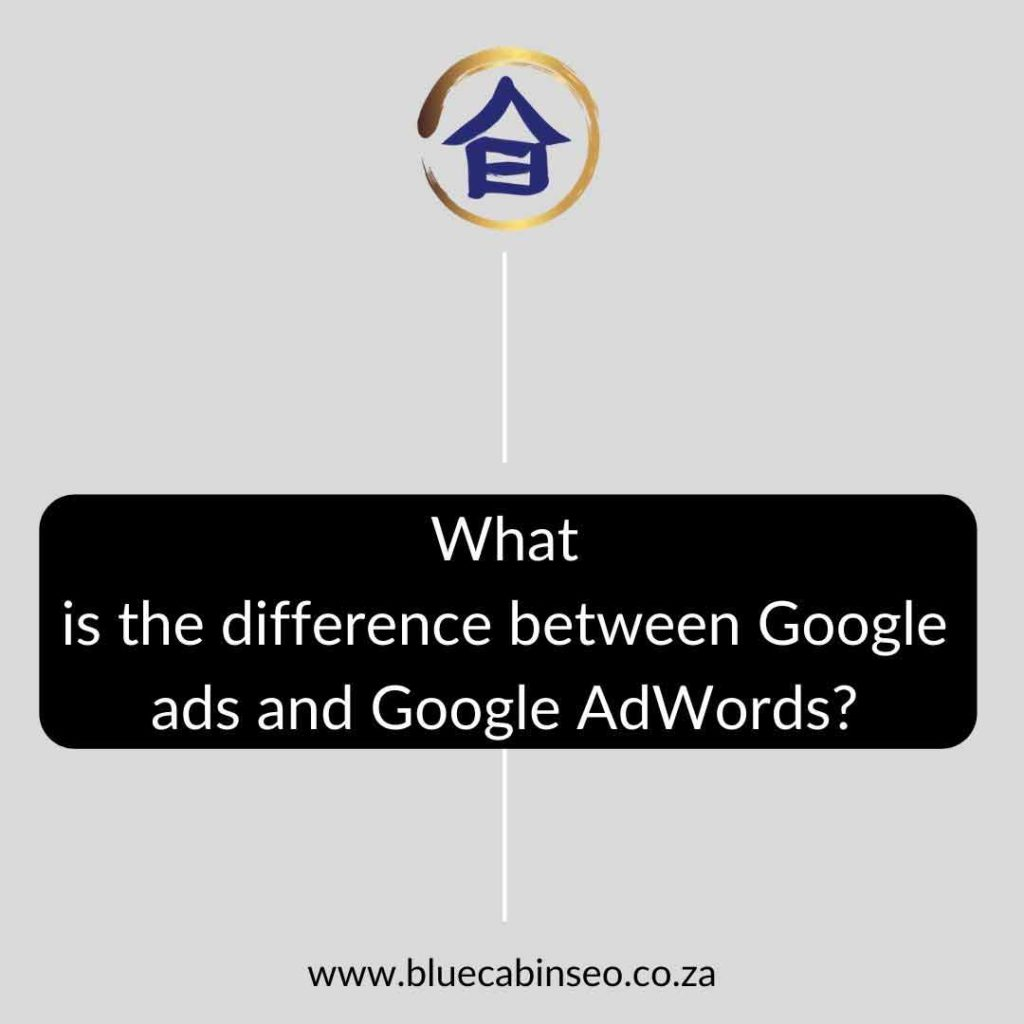 What is the difference between Google ads and Google AdWords - The Blue Cabin SEO Company