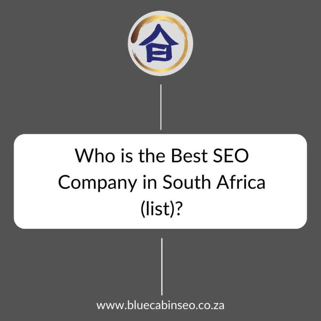 Who is the best SEO company in South Africa list top ten