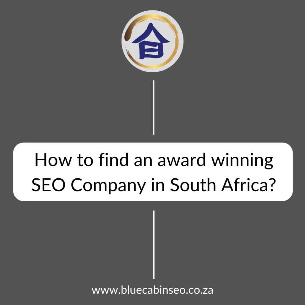 how to find an award winning seo company in south africa