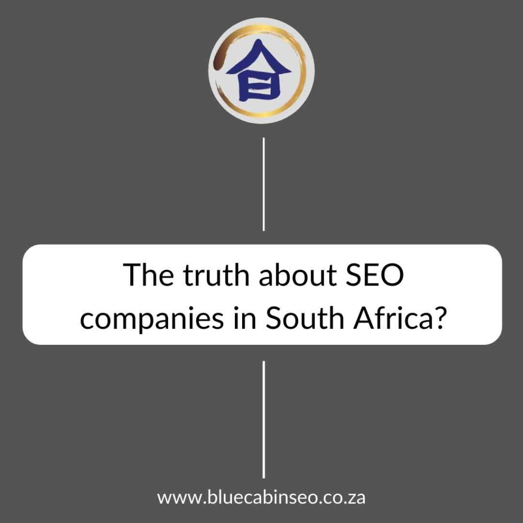 the trust about seo companies in south africa