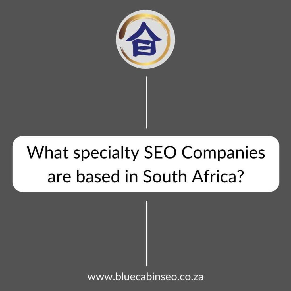 what specialty seo companies are based in south africa?