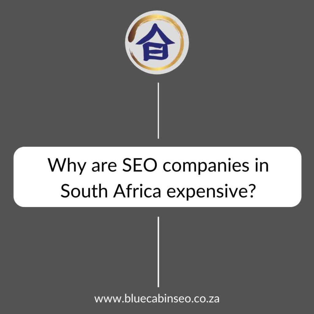 why are seo companies in South Africa expensive?