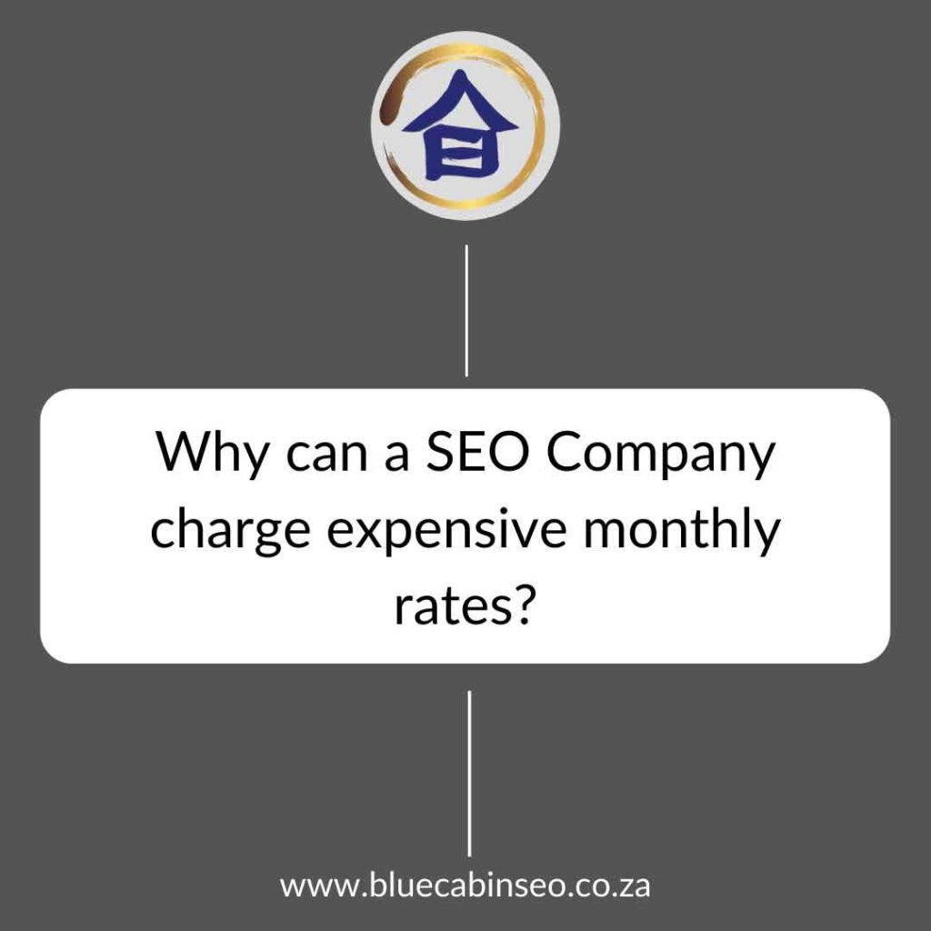 why can a seo company charge expensive monthly rates
